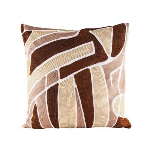 Brown Neutrals - 24 Inch Pillow With Goose Down Insert