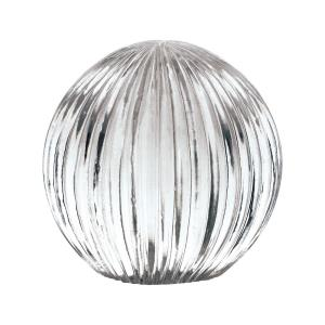 5 Inch Ribbed Glass Globe