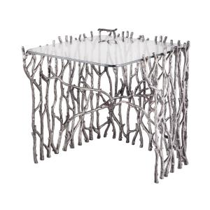 "Silvered Sticks - 25"" Small Side Table"