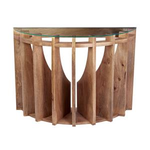 Sundial - 30 Inch Wooden Console Table
