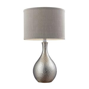 Hammered Chrome - One Light Table Lamp