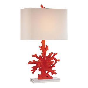 Red Coral - One Light Table Lamp
