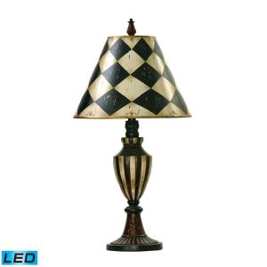 Harlequin and Stripe - LED Urn Table Lamp