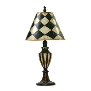 Harlequin and Stripe - One Light Urn Table Lamp