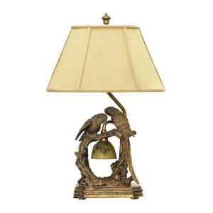 Twin Parrots - One Light Table Lamp