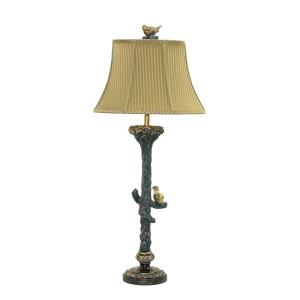 One Light Bird on Branch Table Lamp