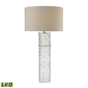 33 Inch 9.5W 1 LED Two Tier Glass Table Lamp