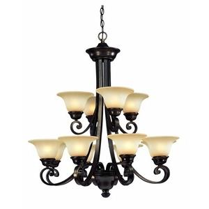 Brittany - Twelve Light 2-Tier Chandelier