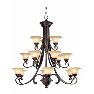 Brittany - Fiftenn Light 3 Tier Chandelier