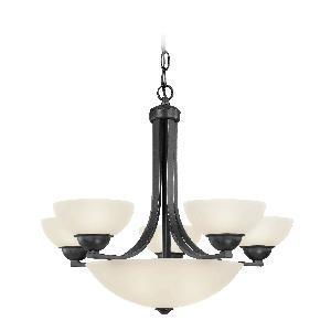 Fireside - Eight Light Bowl Chandelier