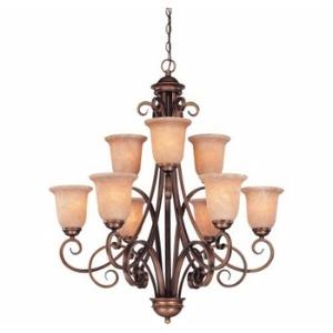 Medici - Nine Light Two Tier Chandelier