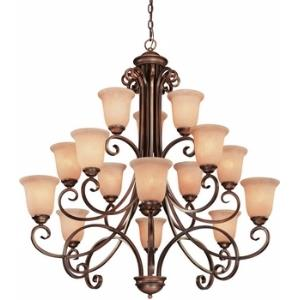 Medici - Fifteen Light Three Tier Chandelier