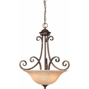 Medici - Three Light Bowl Pendant