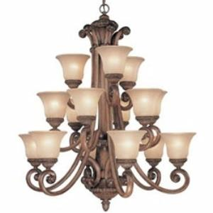 Carlyle - Fifteen Light Three-Tier Chandelier