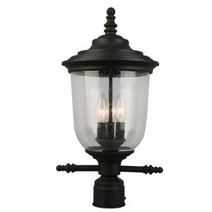 Pinedale - Three Light Outdoor Post Lantern