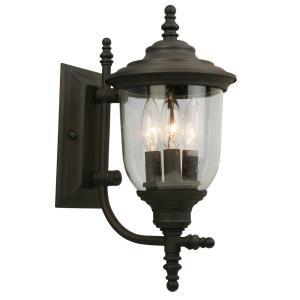 "Pinedale - 15.12"" Three Light Outdoor Wall Lantern"