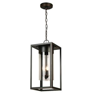 Walker Hill - Three Light Outdoor Pendant