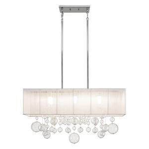 Imbuia - 6 Light Linear Chandelier