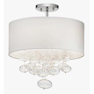 "Imbuia - 16"" 3 Light Semi Flush Ceilling Light"