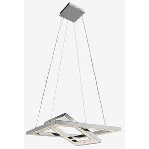 "Crushed Ice - 27.5"" 96W 480 LED Square Pendant"