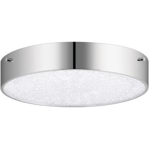 "Crystal Moon - 11.75"" 1 LED Flush Mount"