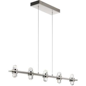 "Arabella - 36.5"" 5 LED Linear Chandelier"