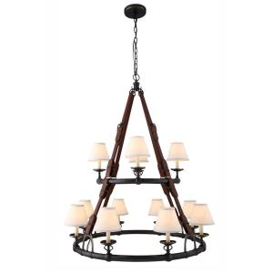 Cascade - Twelve Light 2-Tier Pendant