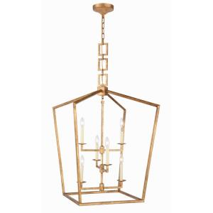 "Denmark - 24"" 6 Light Chandelier"