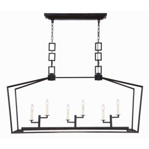 "Denmark - 54"" 6 Light Chandelier"