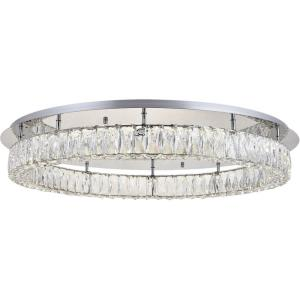 Monroe - 34 Inch 45W LED Flush Mount Clear