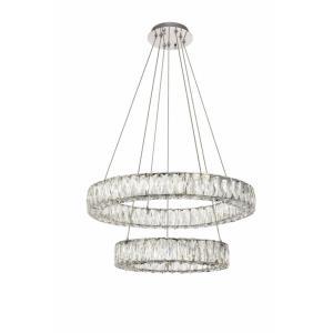 """Monroe - 23.6"""" 0.23W 1 LED Chandelier"""