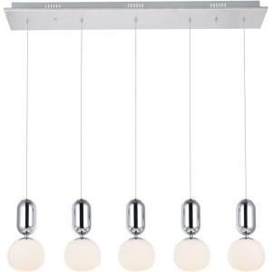 """Lea - 37.4"""" 25.7W 5 LED Pendant"""