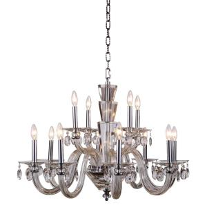 Augusta - Twelve Light 2-Tier Pendant