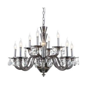 Augusta - Twelve Light Adjustable 2-Tier Chandelier