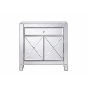 "Contempo - 28.5"" 1 Drawer 2 Door Cabinet"