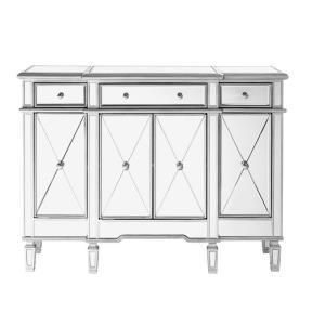 "Contempo - 48"" 3 Drawer 4 Door Cabinet"