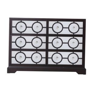 "Modern - 48"" 6 Drawer Rectangle Cabinet"