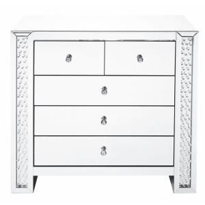 "Modern - 39.5"" 5 Drawer Rectangle Cabinet"