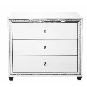 "Modern - 39.5"" 3 Drawer Rectangle Cabinet"