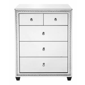 "Modern - 40.5"" 5 Drawer Rectangle Cabinet"