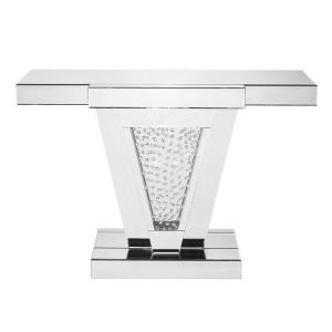 "Modern - 47"" Rectangle Crystal Console Table"
