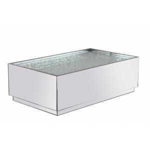 "Modern - 48"" Rectangle Crystal Coffee Table"