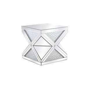 "Modern - 23"" Crystal End Table"