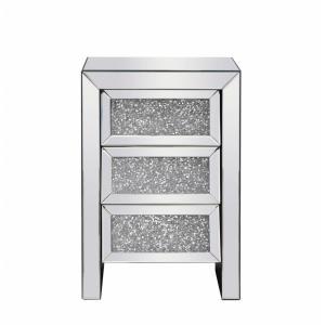 "Modern - 25.5"" 3 Drawer Rectangle Bedside Table"