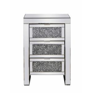 "Modern - 25.5"" 3 Drawer Rectangle Cabinet"