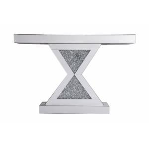 """Modern - 47"""" Crystal Mirrored Console Table"""