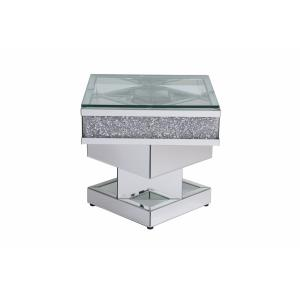 """Modern - 24"""" Crystal Mirrored End Table"""