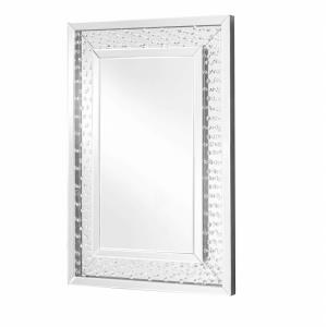 "Sparkle - 35.5"" Rectangular Contemporary Crystal Mirror"