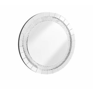 "Sparkle - 39"" Round Contemporary Crystal Mirror"