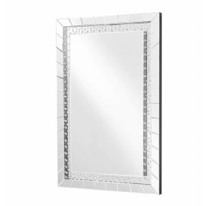 "Sparkle - 47"" Rectangular Contemporary Crystal Mirror"